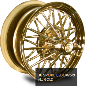 gold 30 spoke wire wheels