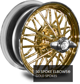 chrome 30 Spokes with gold spokes