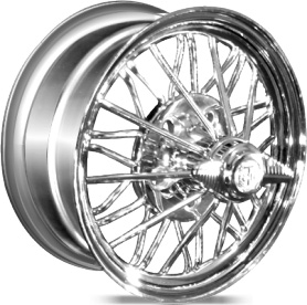 spoke wire wheels chrome