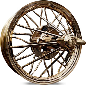 spoke wire wheels gold
