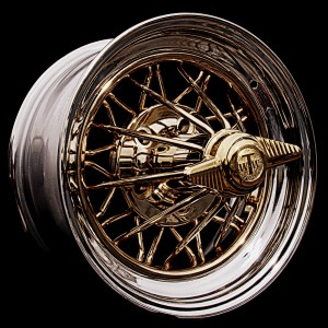 "15"" Rear Wheel Drive Gold Spokes"