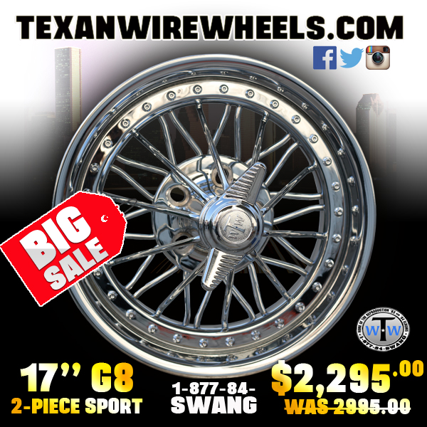 17 inch 84s 2-Piece Sport 30 Spoke Wire Wheel