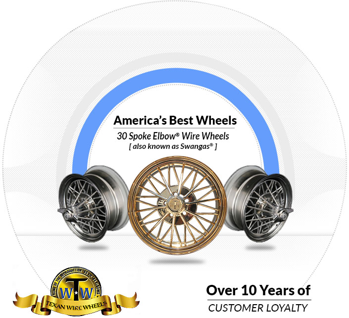Texan Wire Wheels, America's Best 30 Spoke Rims