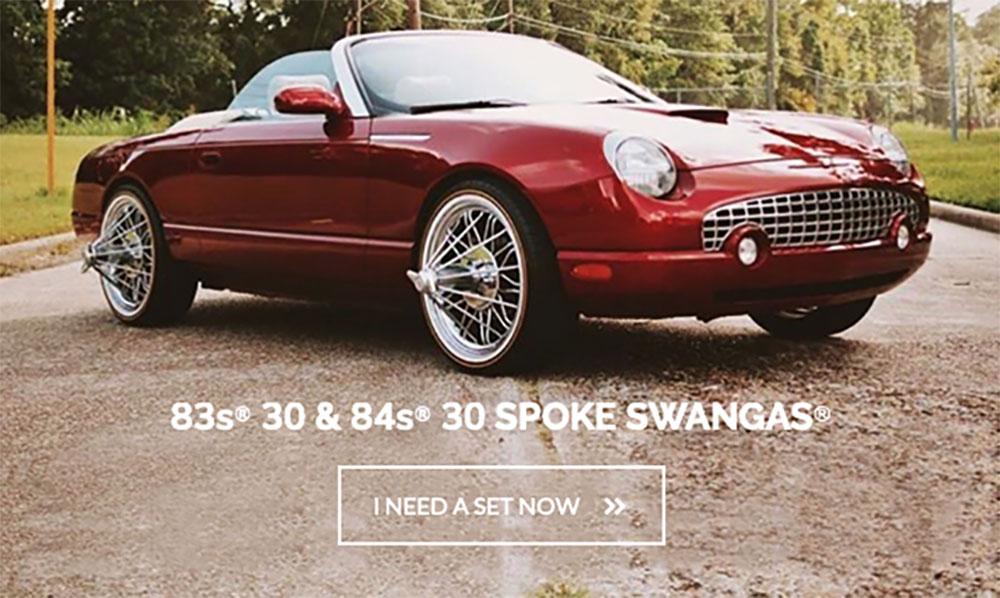 Shop All Texan Wire Wheels Swangas